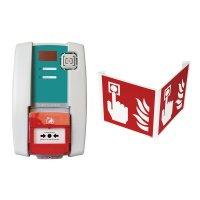 Kit centrale d'alarme type 4 à piles avec flash et signalisation 3D