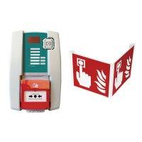 Kit centrale d'alarme type 4 secteur avec flash et signalisation 3D