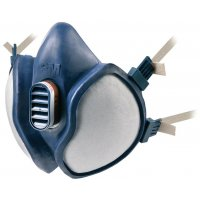 Demi-masque de protection respiratoire bi-filtre jetable confort