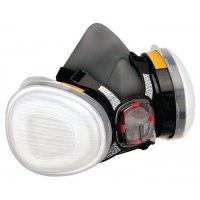 Demi-masque de protection respiratoire bi-filtre standard