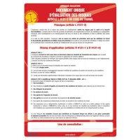 Affichage obligatoire Document unique d'évaluation des risques