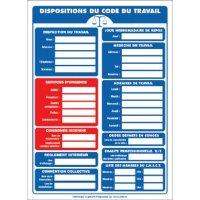 Affichage obligatoire à insert sur les dispositions du code du travail