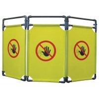 Barrière temporaire en PVC accès interdit aux personnes non autorisées