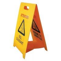 Balise de signalisation sol glissant et risque de dérapage