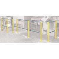 Barrière de protection en acier pour délimitation de zones de travail