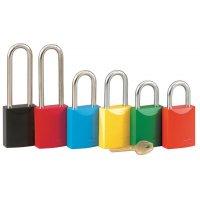 Cadenas en aluminium de couleur haute visibilité avec différentes configurations de clés disponibles