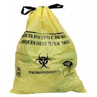 Sacs poubelles pour Déchets d'Activité de Soins à Risques Infectieux DASRI
