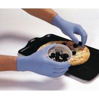 Gants latex poudrés détectables bleus pour milieu alimentaire
