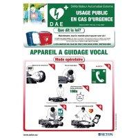 Poster d'information sur l'utilisation du défibrillateur