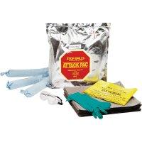 Kit absorbant pour hydrocarbures en sac à usage unique