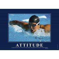 Poster de motivation plastifié - Attitude