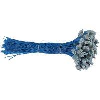 Plombs à sceller en plastique gris sur fil perlé plastique