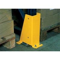 Protections pour poteaux et rayonnages en acier jaune