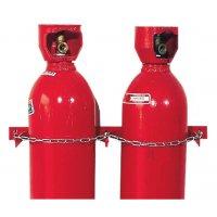 Crochets avec chaînes de sécurité pour bouteilles de gaz