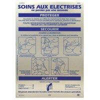 Consignes sur panneau en aluminium - Soins aux électrisés