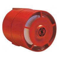 Sirène électronique en ABS rouge