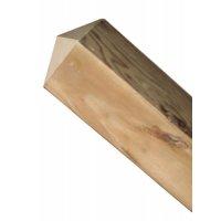 Poteaux en bois carrés à tête diamant