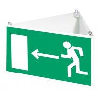 Signalétique suspendue d'évacuation personnalisable