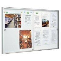 Vitrine d'intérieur Référence à portes coulissantes en verre acrylique