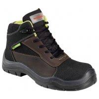 Chaussures de sécurité homme en cuir avec semelle anti-odeur, classe S3