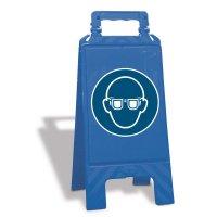 Chevalet de signalisation Lunettes de protection obligatoires - M004
