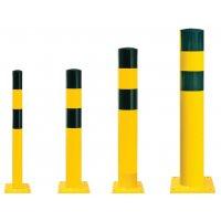 Poteau de protection extra-large en acier jaune et noir