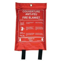 Couverture anti-feu incombustible en sachet souple