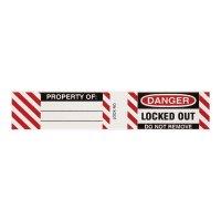 Etiquettes laminées pour cadenas de consignation