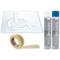 Prix Spécial - Kit pochoir et peintures symbole Handicapé