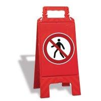Chevalet de signalisation interdit aux piétons - P004
