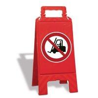 Chevalet de signalisation interdit aux chariots élévateurs à fourche et autres véhicules industriels - P006