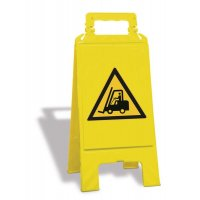 Chevalet de signalisation danger: Chariots élévateurs et autres véhicules industriels - W014