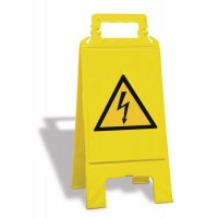 Chevalet de signalisation: Danger électrique - W012