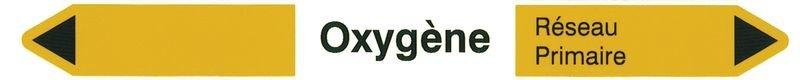 Marqueurs pour canalisations hospitalières Oxygène (Gaz)