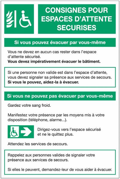 Affichage obligatoire des consignes pour espaces d'attente sécurisés