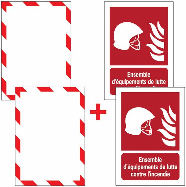 Porte-documents adhésifs à fermeture magnétique Ensemble d'équipements de lutte contre l'incendie