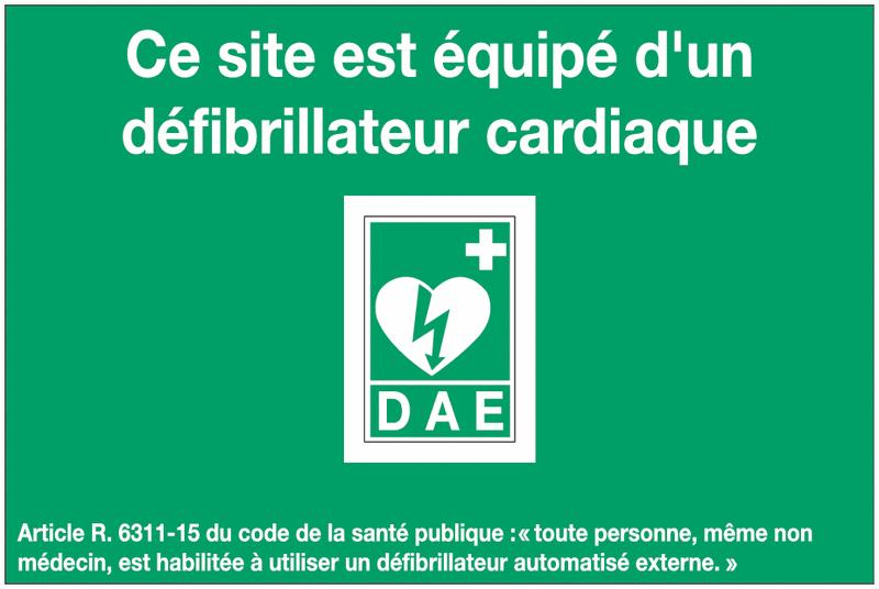 Pack de signalisation pour défibrillateur avec signalétique et poster - Panneaux et pictogrammes pour Défibrillateurs Automatiques Externes (DAE)
