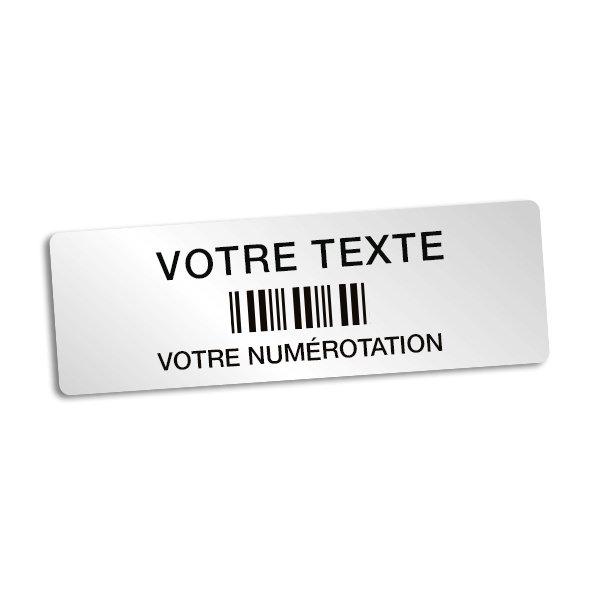 Etiquettes code à barres personnalisables en ligne - Étiquetage de sécurité et d'identification
