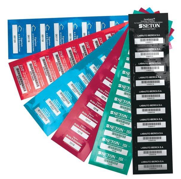 Etiquettes de propriété DuraGuard® personnalisées en ligne - Etiquettes personnalisées