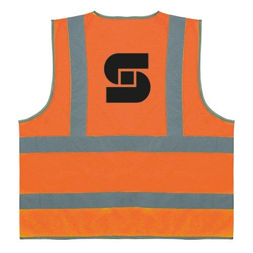 Gilets fluorescents personnalisables avec bandes réfléchissantes - Vêtements de sécurité et brassards de sécurité