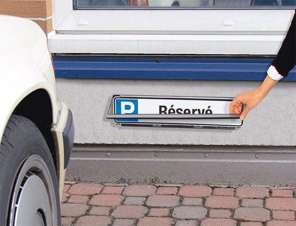 Panneau type plaque d'immatriculation Places de parking personnalisable en ligne