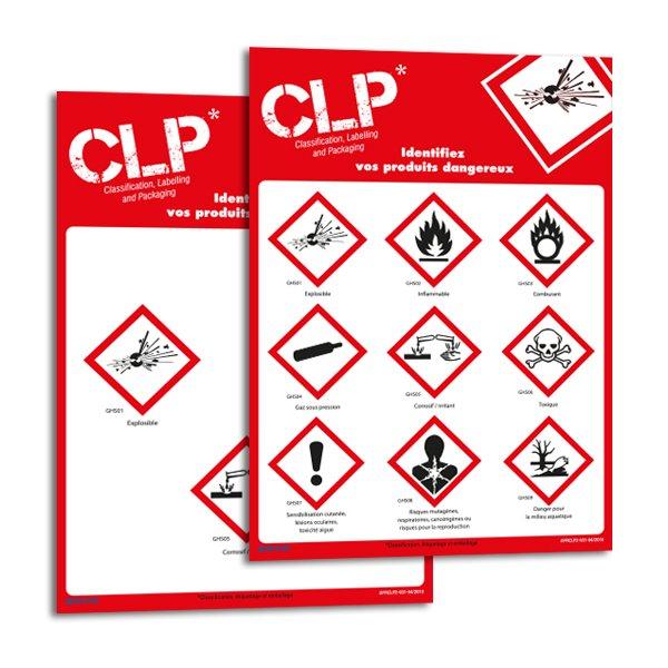 Panneaux magnétiques à symboles CLP personnalisables en ligne - Pictogrammes de produits chimiques et dangereux