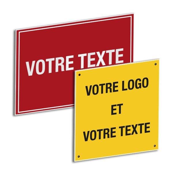 Panneaux de signalisation en PVC personnalisables en ligne