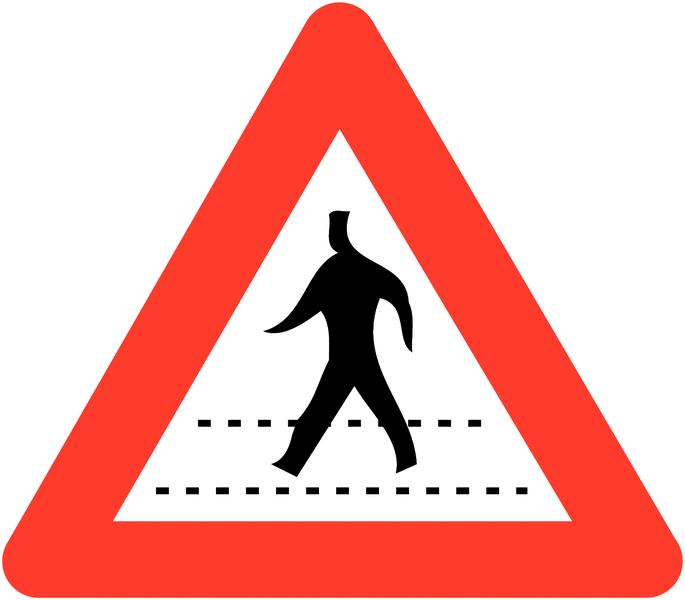 Panneaux de circulation anti-graffiti Premium Passage pour piéton