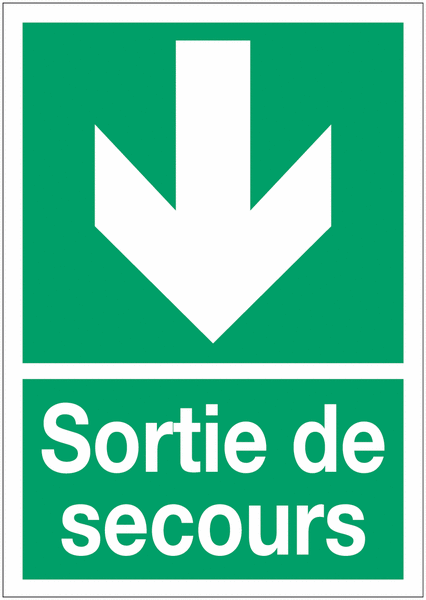 Panneaux d'évacuation A4 Flèche en bas
