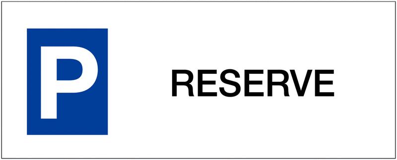 Panneau de parking en aluminium Places de parking - Réservé