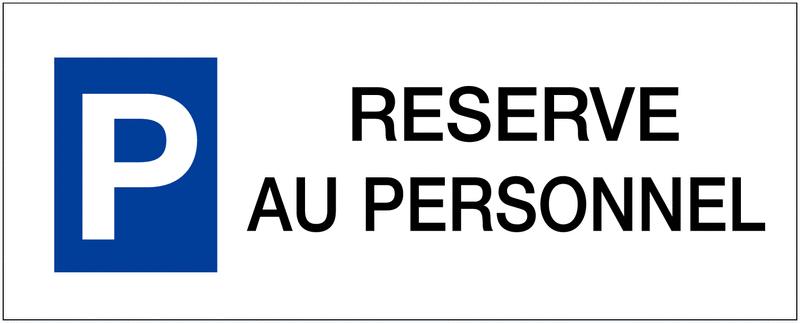 Panneau de parking en aluminium Places de parking - Réservé au personnel