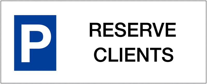 Panneau de parking en aluminium Places de parking - Réservé clients