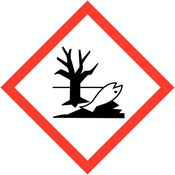 Lot de 4 planches de pictogrammes CLP Danger pour le milieu aquatique (3+1 gratuite) - Seton