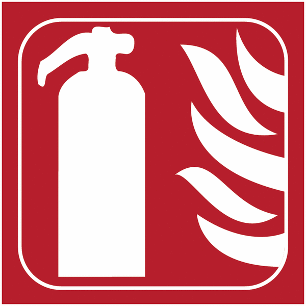 Pictogramme en braille extincteur d'incendie